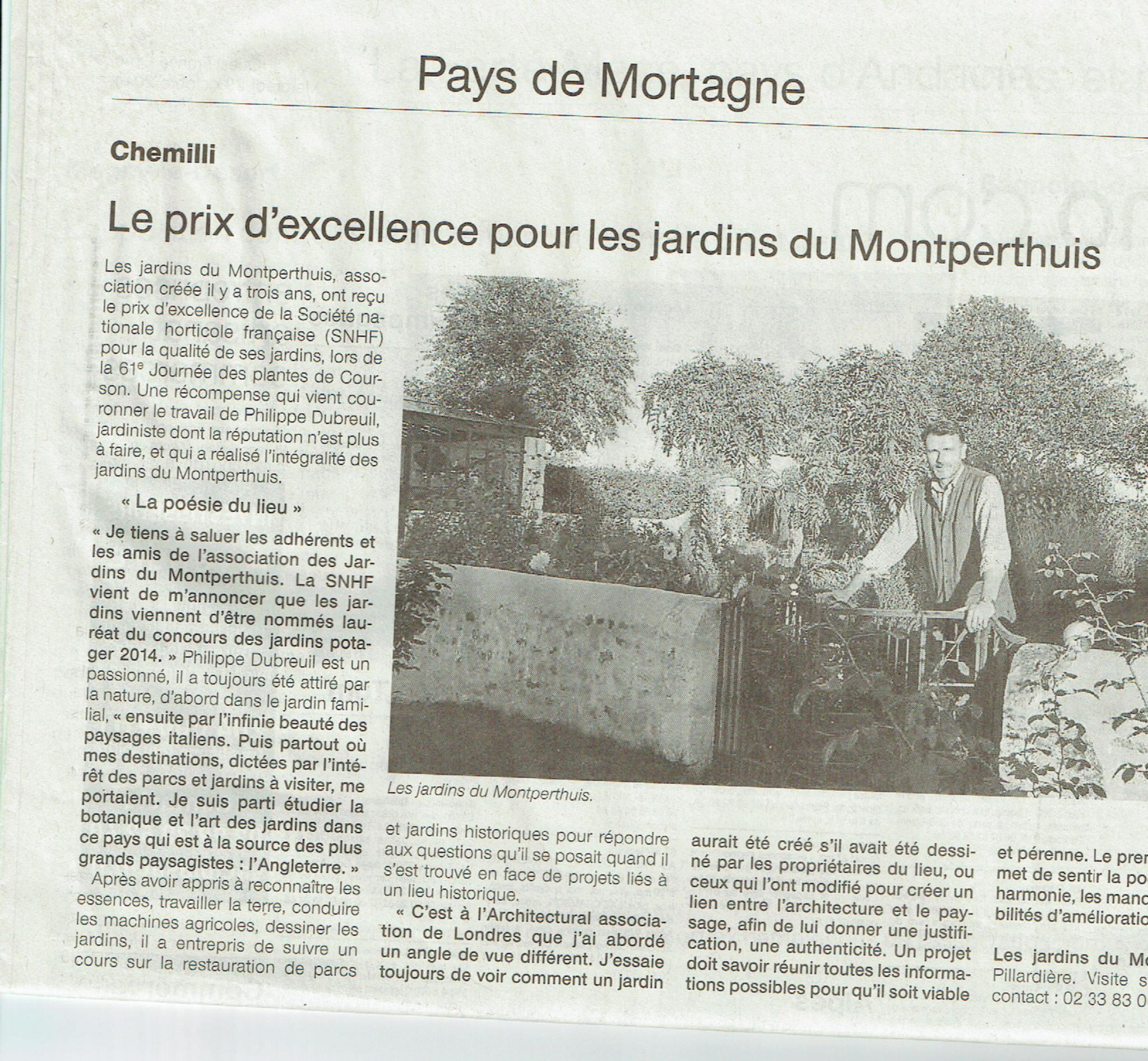 Presse les jardins du montperthuis - Journal le perche mortagne ...